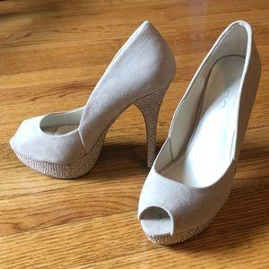 Studded Peep Toe Heels